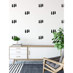 28 Triple Hand Drawn Line Wall Sticker Shapes