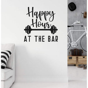 Happy Hour At The Bar Gym Wall Sticker Quote