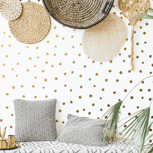 288 Mini Irregular Polka Dots Wall Stickers