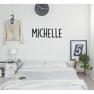 Tall Text Personalised Wall Sticker