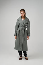 Heavy cotton coat in light green