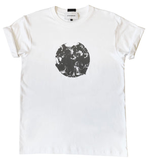Short sleeve cotton jersey t-shirt with round graphic detail