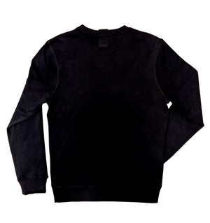 Sweatshirt in black with white head