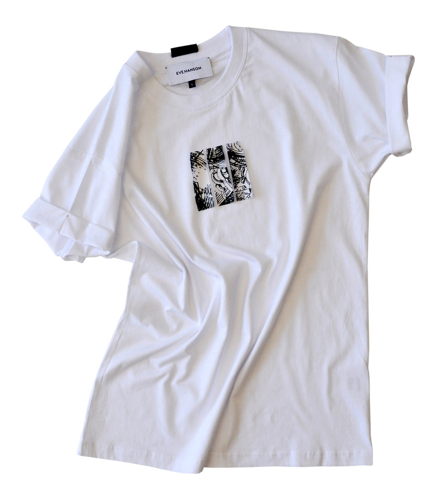 Short sleeve cotton jersey t-shirt in white