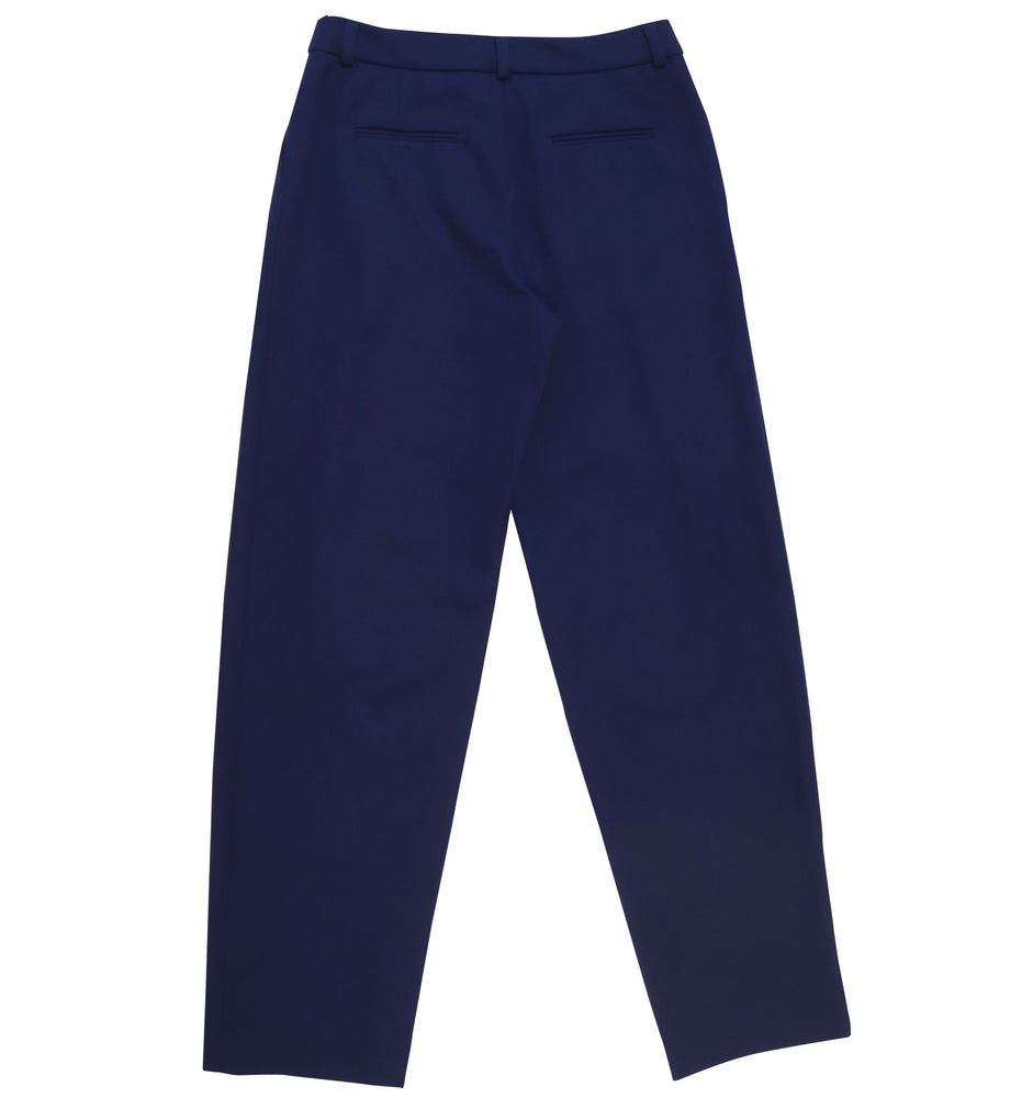 Relaxed fit cotton elastane fabric trousers in dark violet