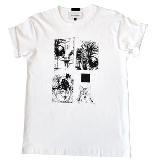 Short sleeve cotton jersey t-shirt with different graphic details