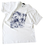 Short sleeve cotton jersey t-shirt with print