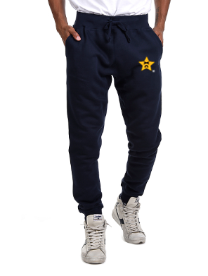 Knockout Unisex Embroidered Navy Joggers