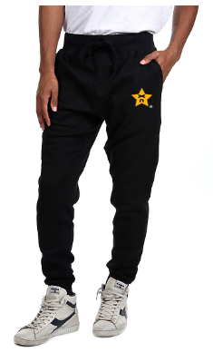 Knockout Unisex Embroidered Black Joggers