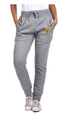 Knockout Unisex Embroidered Grey Joggers
