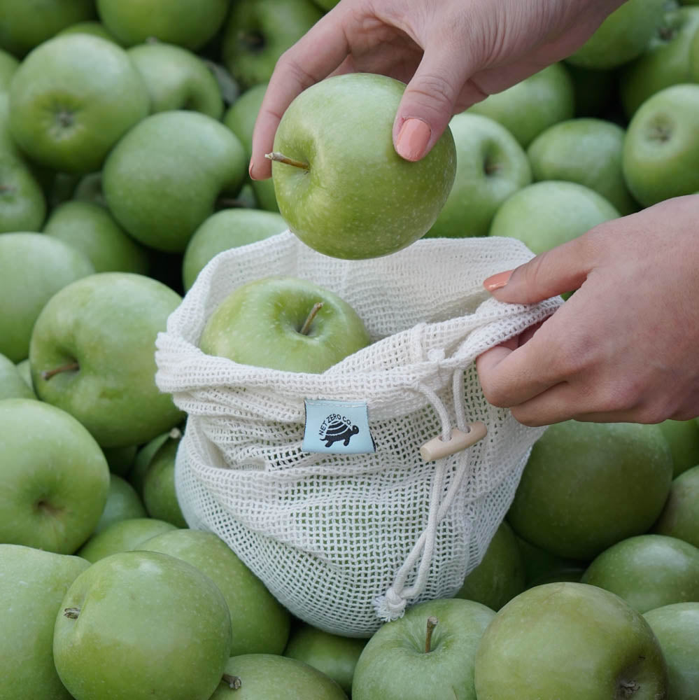 cotton produce mesh bags lifestyle - granny smith