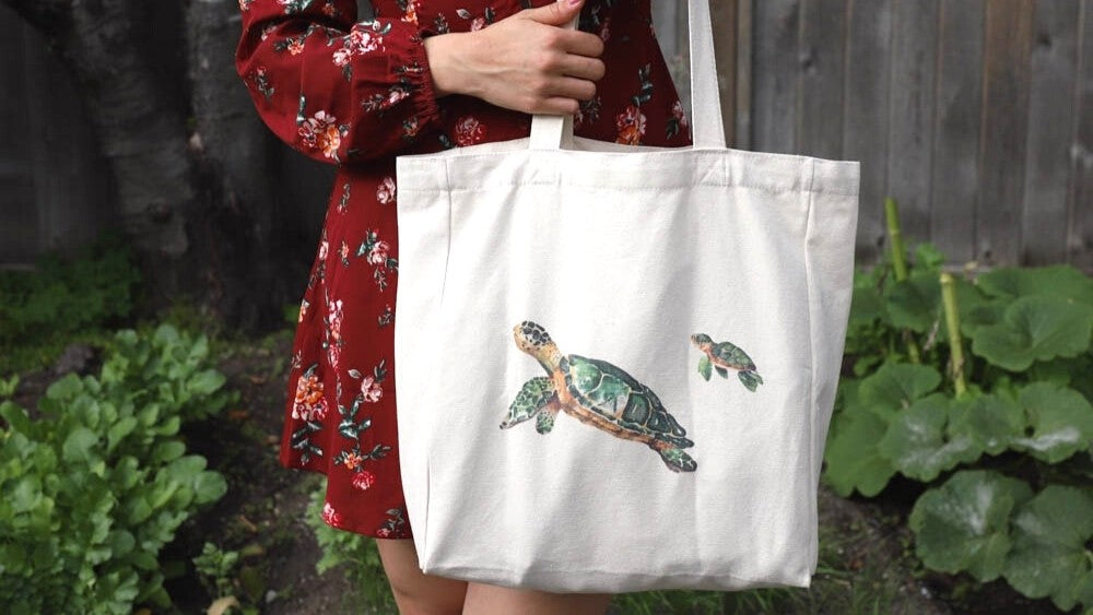 Fashionable with Net Zero reusable cotton bag