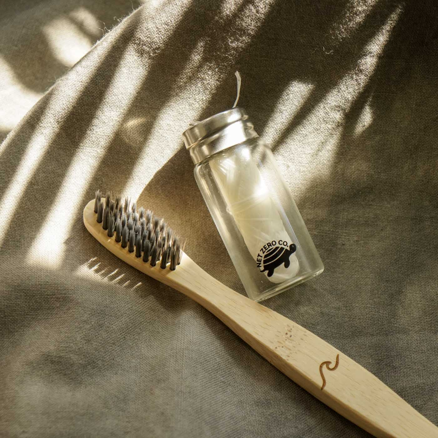 Eco Brush & Floss Set | Eco Friendly Toothbrush & Compostable Floss