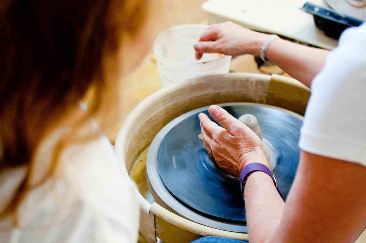 Get Creative Together make pottery