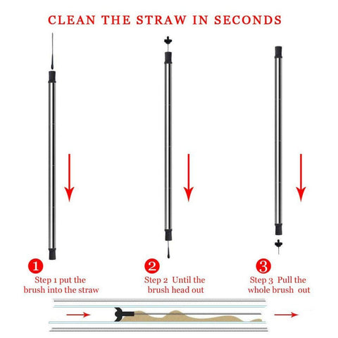 How to clean with collapsible straw cleaning squeegee