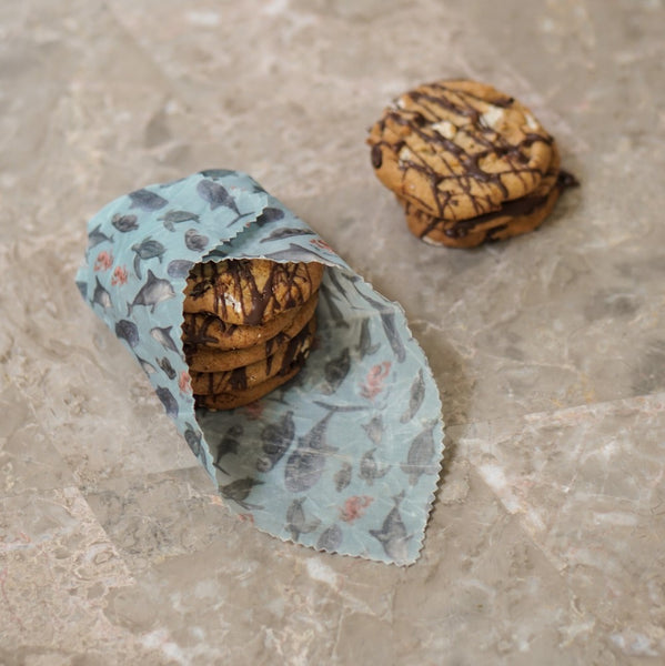 Beeswax wraps with cookies Net Zero Co.