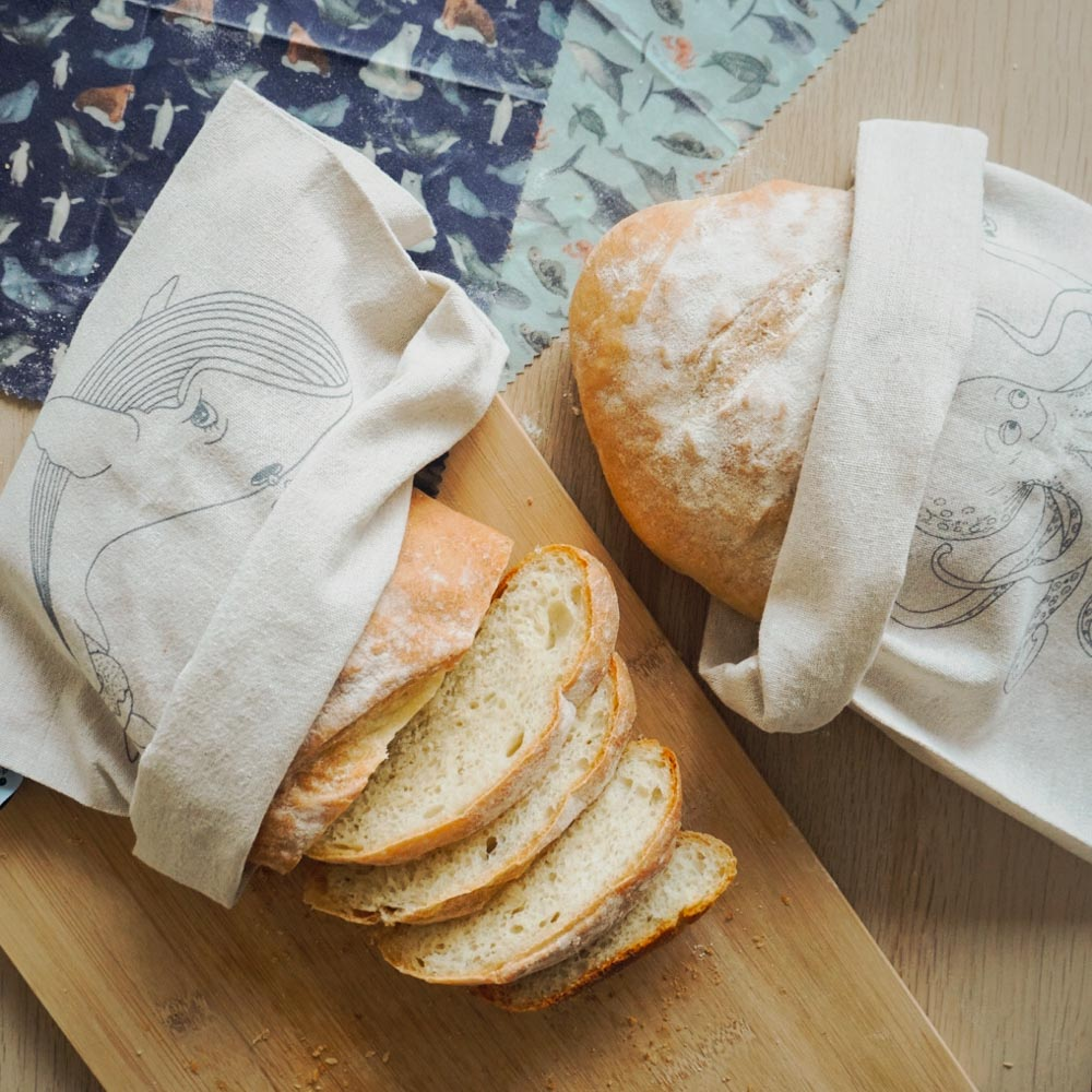Linen Bread Bags - Bread Loaf Bags sliced bread