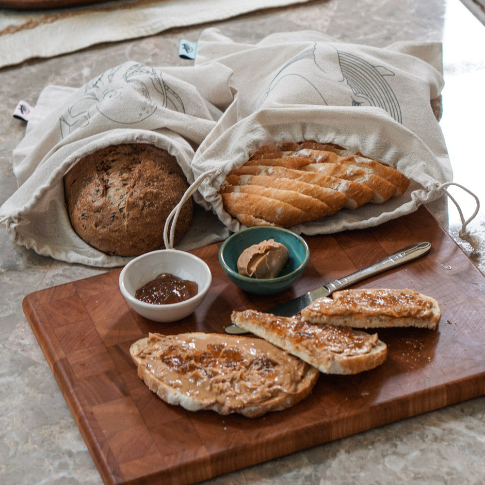 Linen Bread Bags - Bread Loaf Bags for Bakery or Homemade Bread