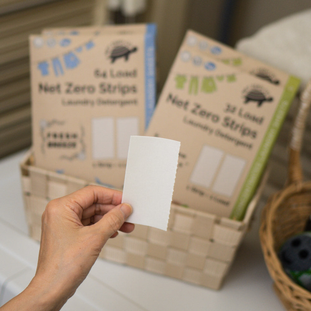 Net Zero Srips laundry detergent strips eco friendly laundry zero waste laundry detergent eco strip tru earth