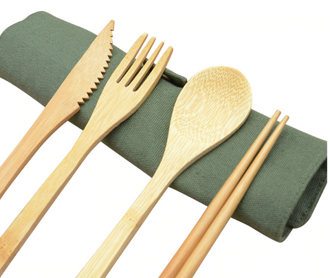 bamboo cutlery set flatware
