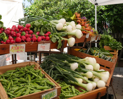 Spend some time at a local farmer's market