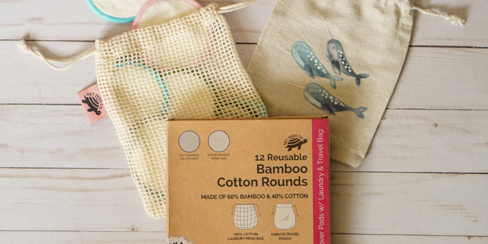 bamboo cotton rounds packaging net zero co plastic free