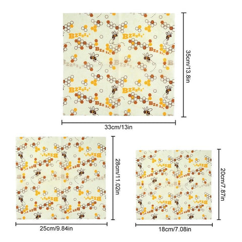beeswax food wrap sizes