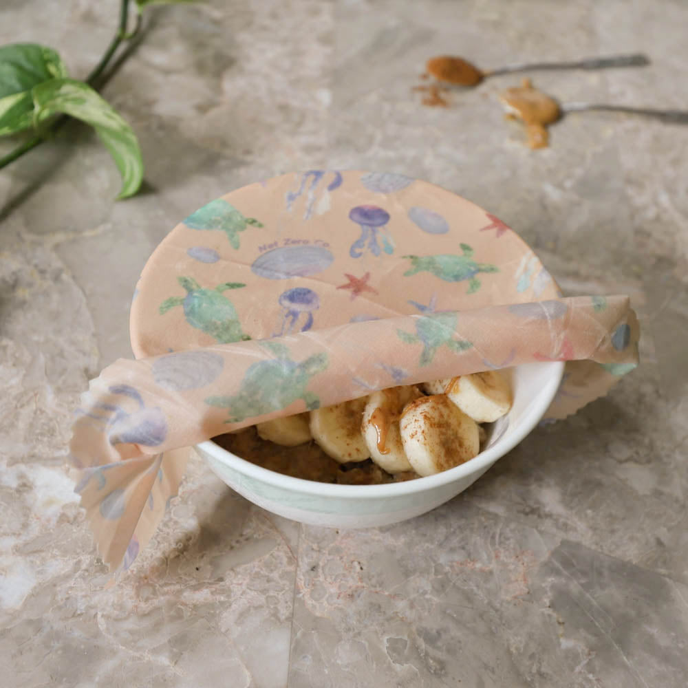 beeswax wraps lifestyle - pink beachside oatmeal-2
