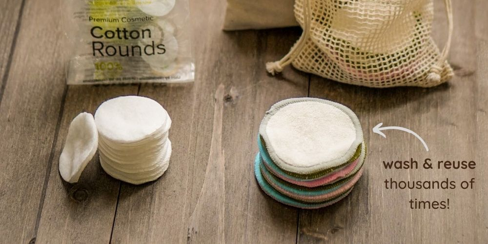 choose washable and reusable bamboo cotton rounds
