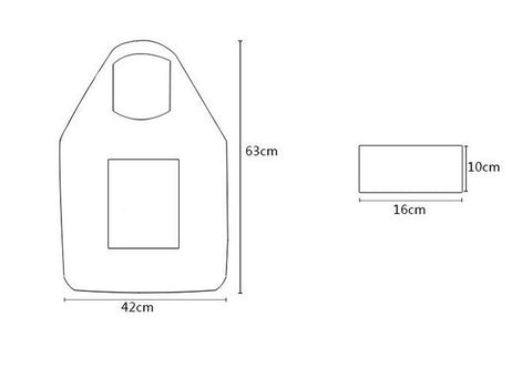 foldable shopping bag measurements pocket grocery bags