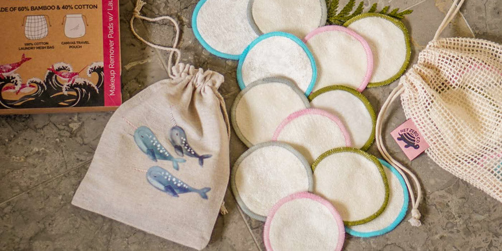 net zero company reusable bamboo cotton rounds reusable facial rounds for removing makeup