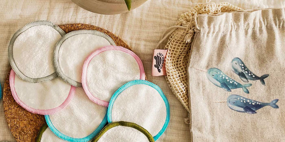 reusable bamboo cotton rounds from net zero co are the perfect replacement for cotton pads