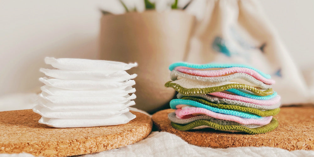 sustainable swap cotton pads to reusable cotton pads