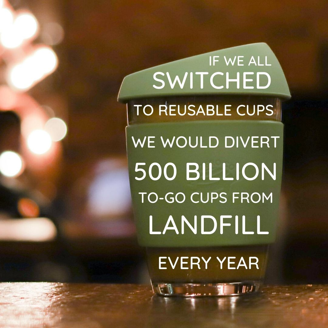 use a reusable mug to divert waste from landfills