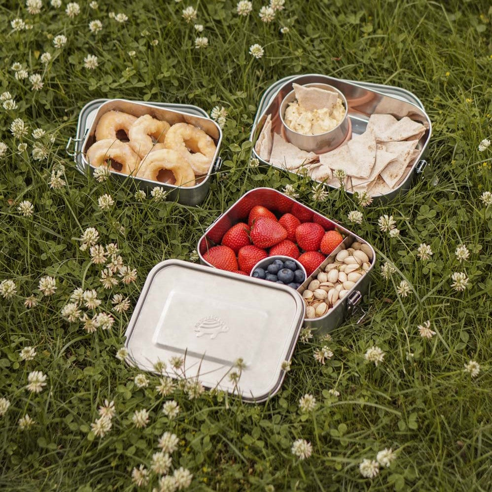 Munchie Box Stack - 3 Sizes of Stainless Steel Lunch Containers Set