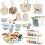 Shop & Store Bundle  Eco Friendly Grocery Shopping & Food Storage Set