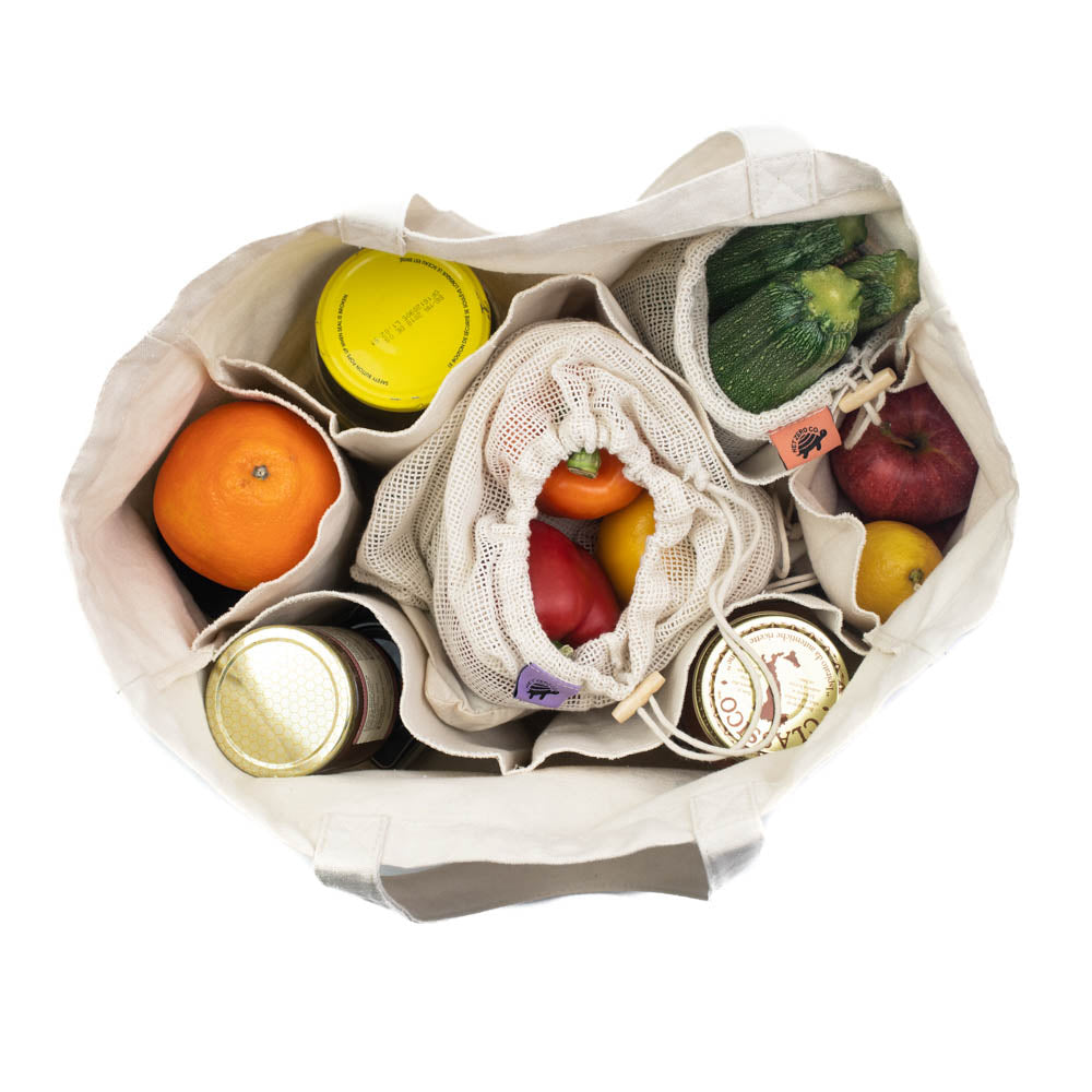 Shop & Store Bundle | Eco Friendly Grocery Shopping & Food Storage Set