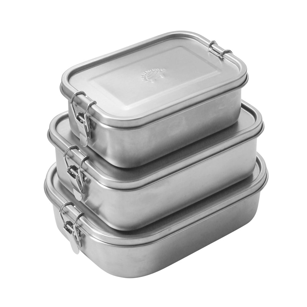 munchie box stack - petite, original, hearty stainless steel lunch boxes