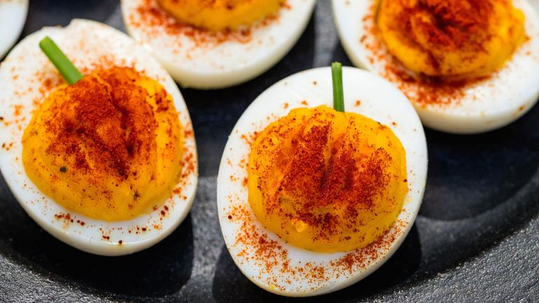 Monday Munchies: Pumpkin Deviled Eggs