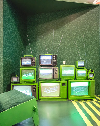spinach tv sets
