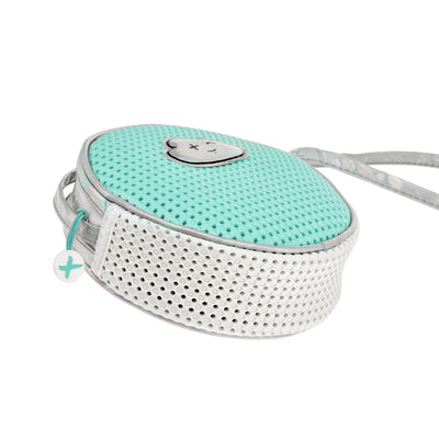 Side view of the EVA / Silicone Crossbody Bag Turq Green