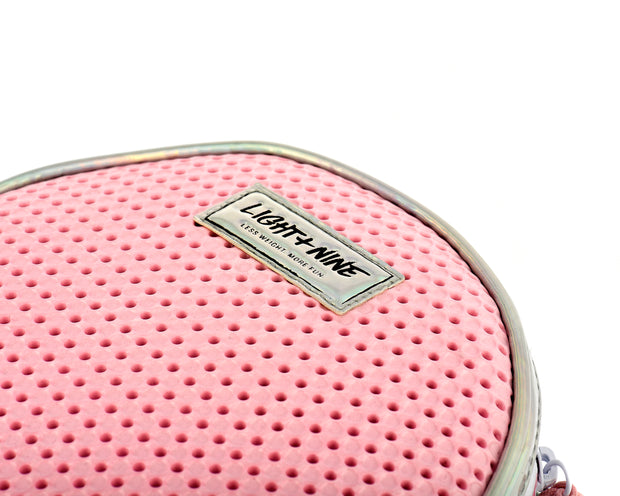 closeup of the EVA / Silicone Kids Crossbody Bag Pink