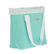 EVA / Silicone Wet N Dry Beach Bag Turq Green