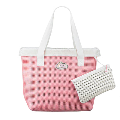 Wet N Dry Beach Bag Pink with Removable pouch