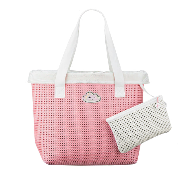 Wet N Dry Beach Bag Pink with Removable pouch -  Light Plus Nine
