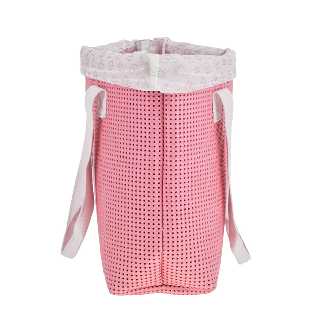 side view of the EVA / Silicone Wet N Dry Beach Bag Pink