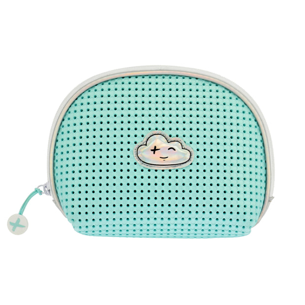 EVA / Silicone Cosmetic Bag Turq Green