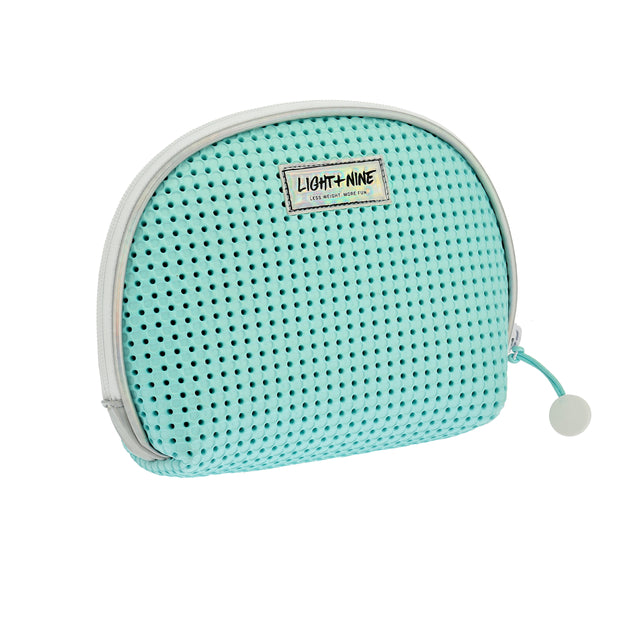 back view of EVA / Silicone Cosmetic Bag Turq Green