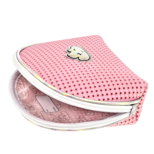 EVA / Silicone Cosmetic Bag Pink Inside view