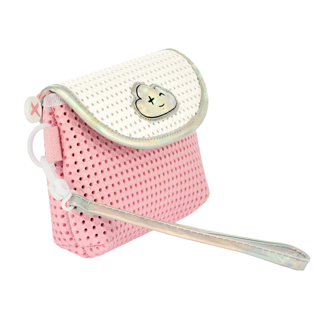 Convertible Kids Fanny Pack Pink side view